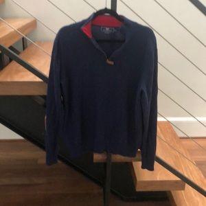 Men's cashmere quarter zip sweater!